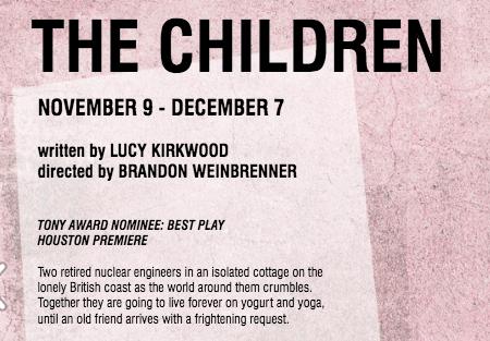 The Children - Nov. 9 - Dec. 7Rec Room Arts, 100 Jackson St., 77002$40