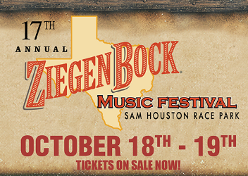 17th Annual ZiegenBock Music Festival - Oct. 18, 6 pm and Oct. 19, 4 pmSam Houston Race Park, 7575 North Sam Houston Pkwy W,, 77064$20 - $75