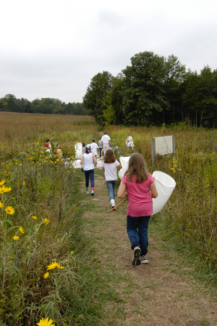 College School fifth graders at Shaw Nature Reserve