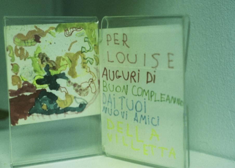 Birthday message from children at La Villetta School.