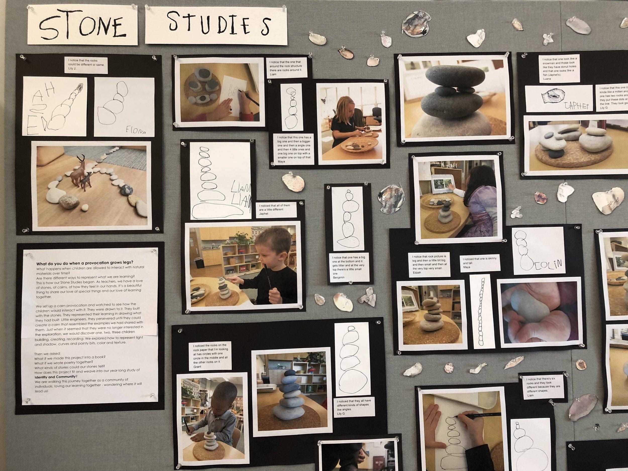 Stone Study Documentation, Rachel and Sue's classroom, April, 2019