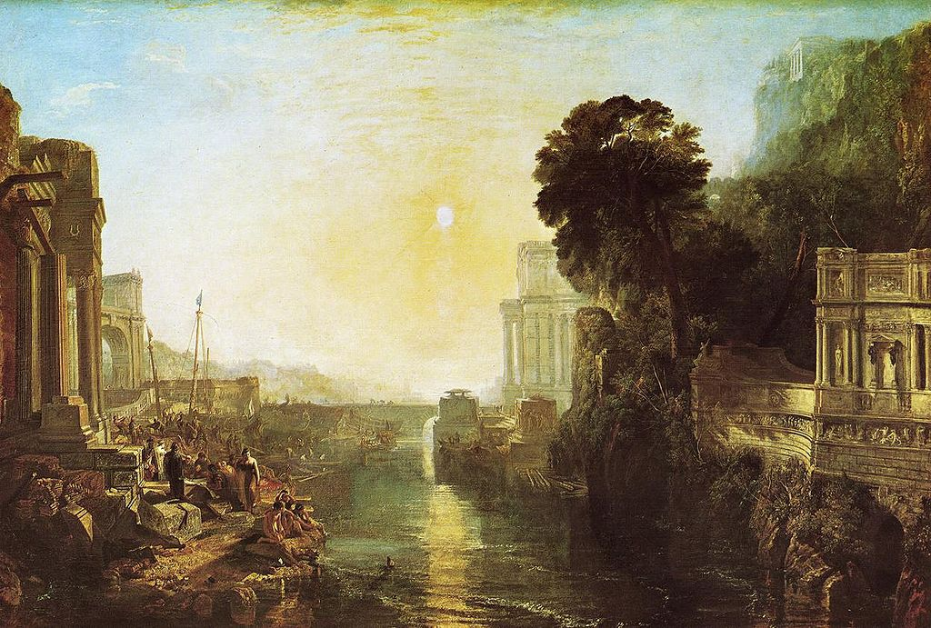 J. M. W. Turner,  Dido building Carthage, or The Rise of the Carthaginian Empire , 1815