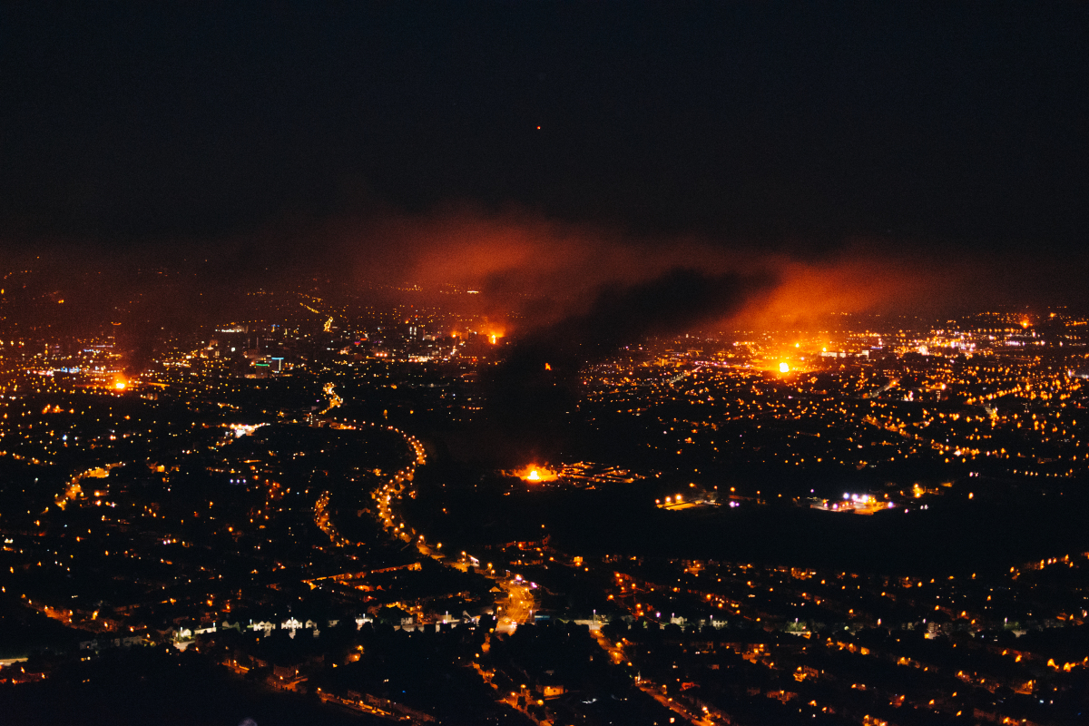 The view from Cave Hill on 11th July 2017 (IMAGE: Brendan Harkin)