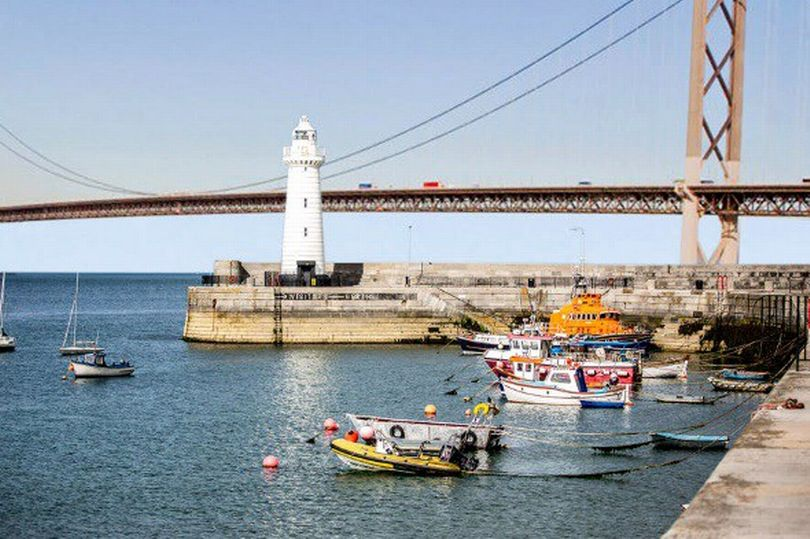 A mock-up of the bridge in Donaghadee, appropriately heading straight into the sea (via  Belfast Live )