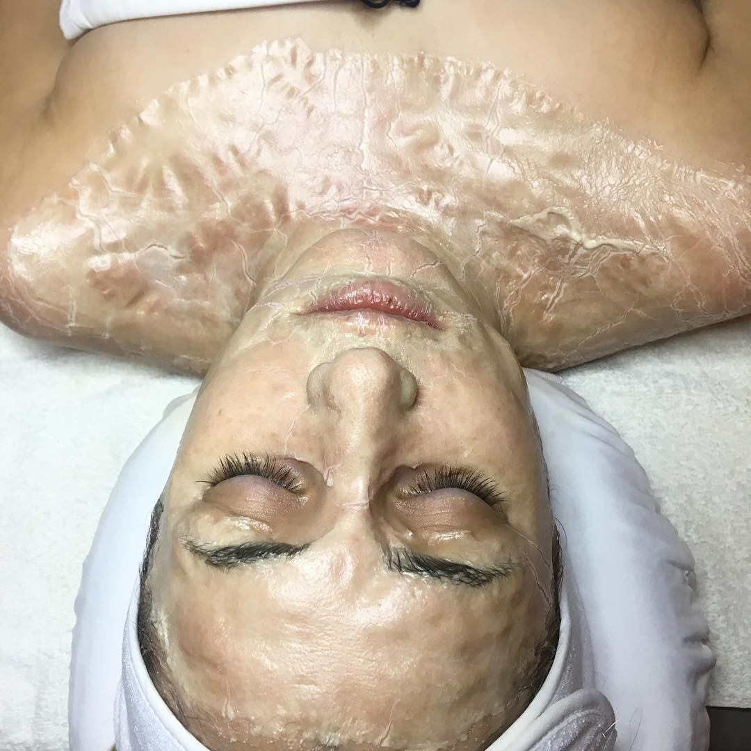 The actual mask dried to produce its ultimate results!