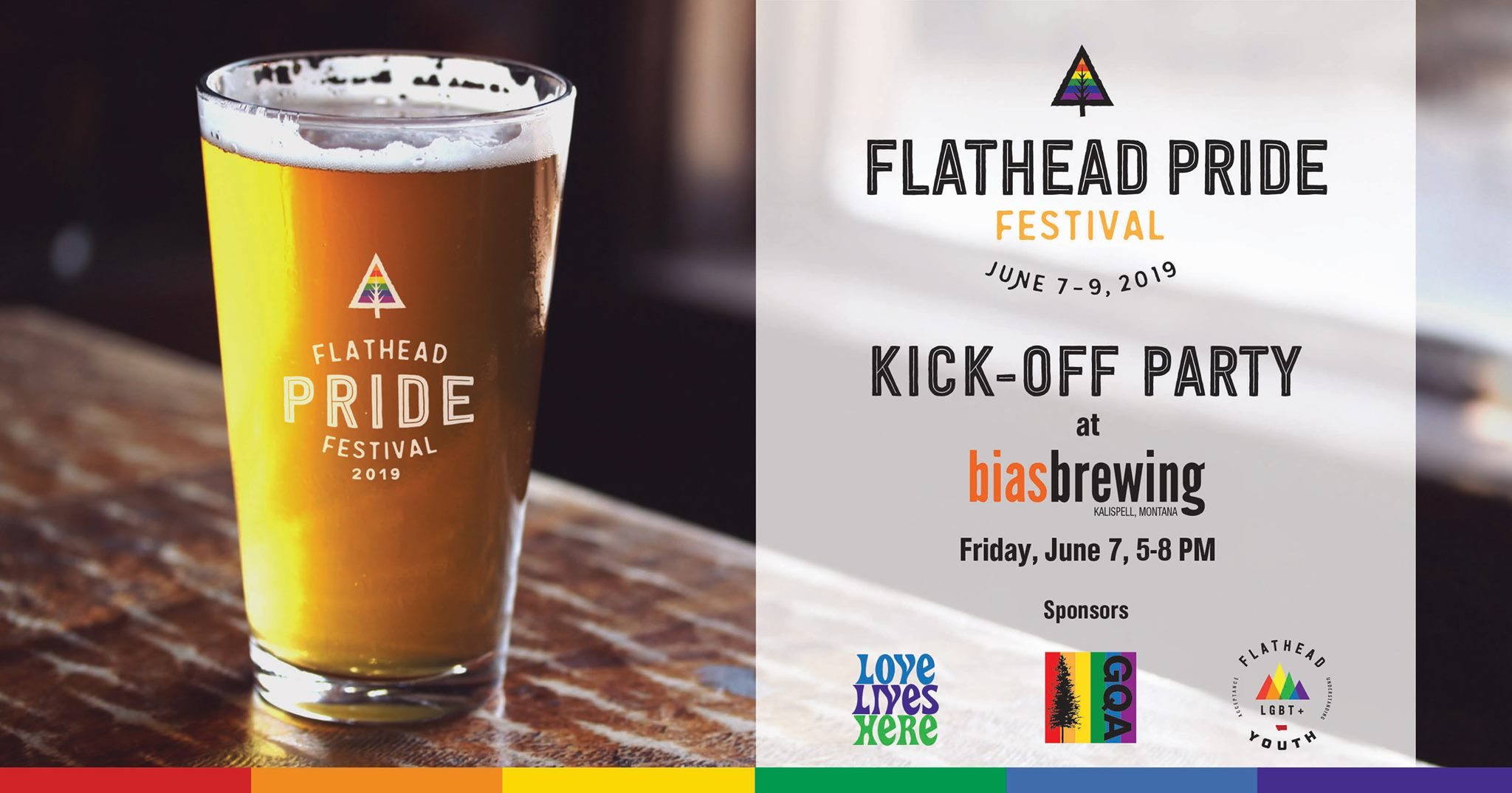 5-8pm on Friday, June 7, 2019  Bias Brewing  409 1st Ave E, Kalispell