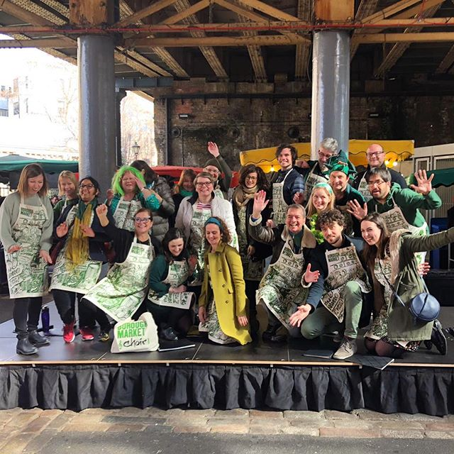 Did you catch us today in Borough Market? We entertained the lovely crowd with our tunes and there may have even been a conga line! Happy St Patrick's day! 🍀💚 #bmc #boroughmarketchoir #boroughmarket #stpatricksday #choirsinging #choirperformance #tunes #congaline #barbaraann #caravanoflove