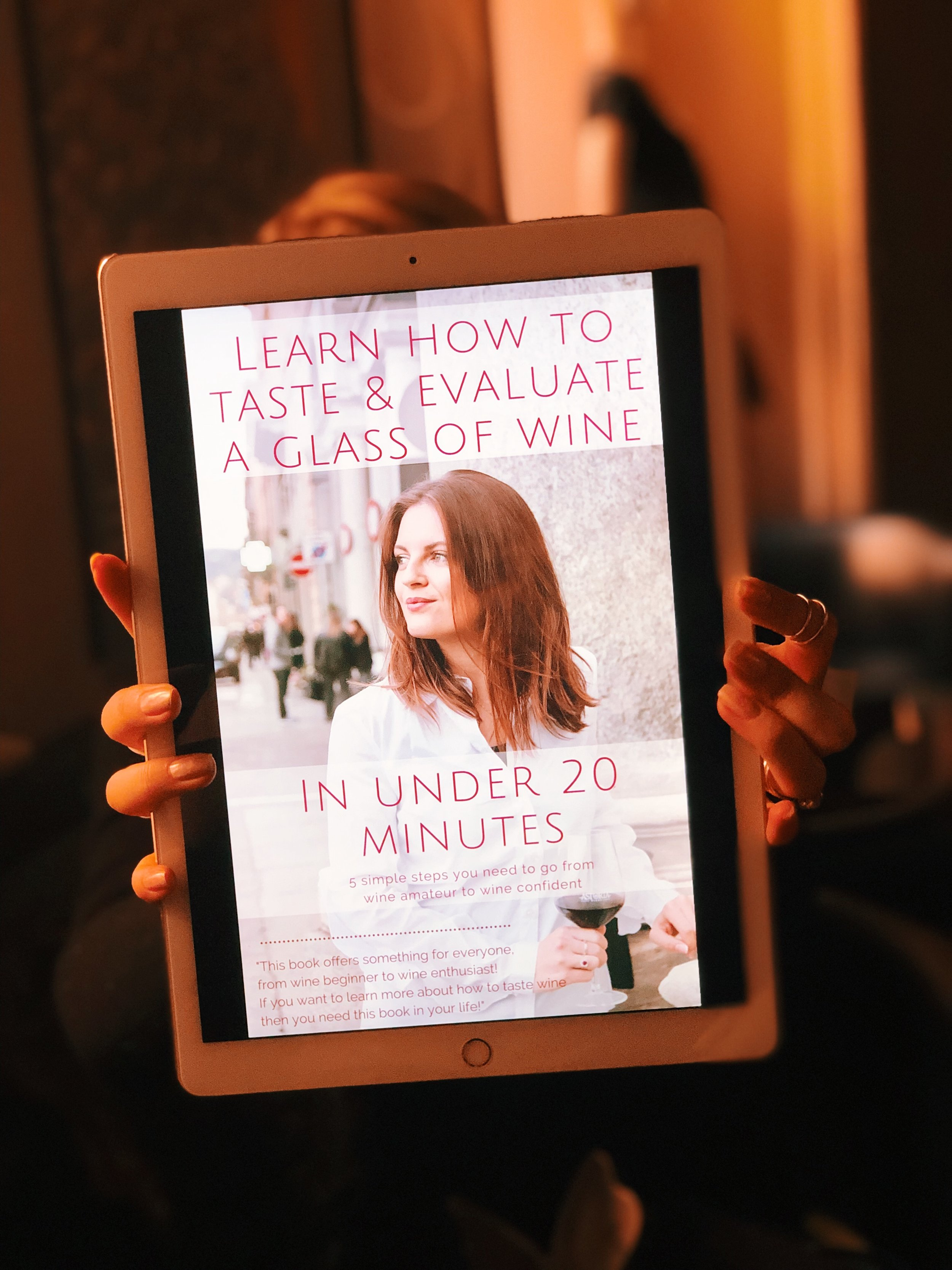 Learn how to Taste & Evaluate a Glass of Wine in Under 20 Minutes: Grab  Your Free Copy Here