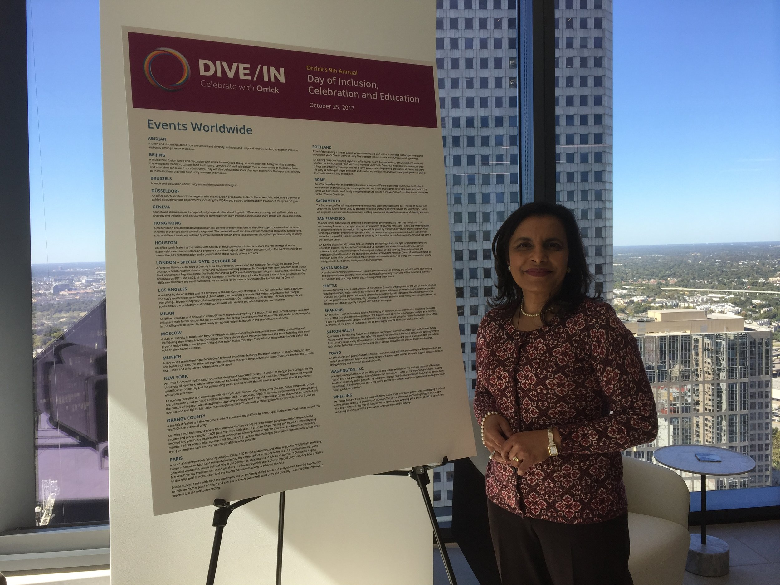 Celebrating Inclusion and Diversity at Orrick's Dive/In Day