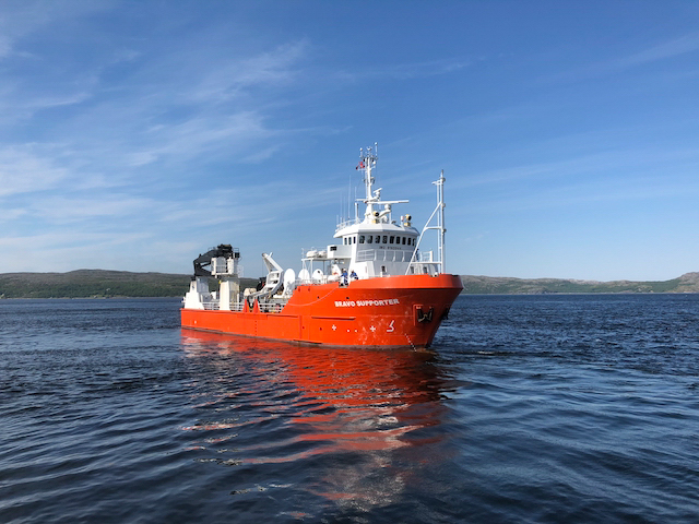 The crew will live aboard the Bravo Supporter, a hybrid scientific research vessel.