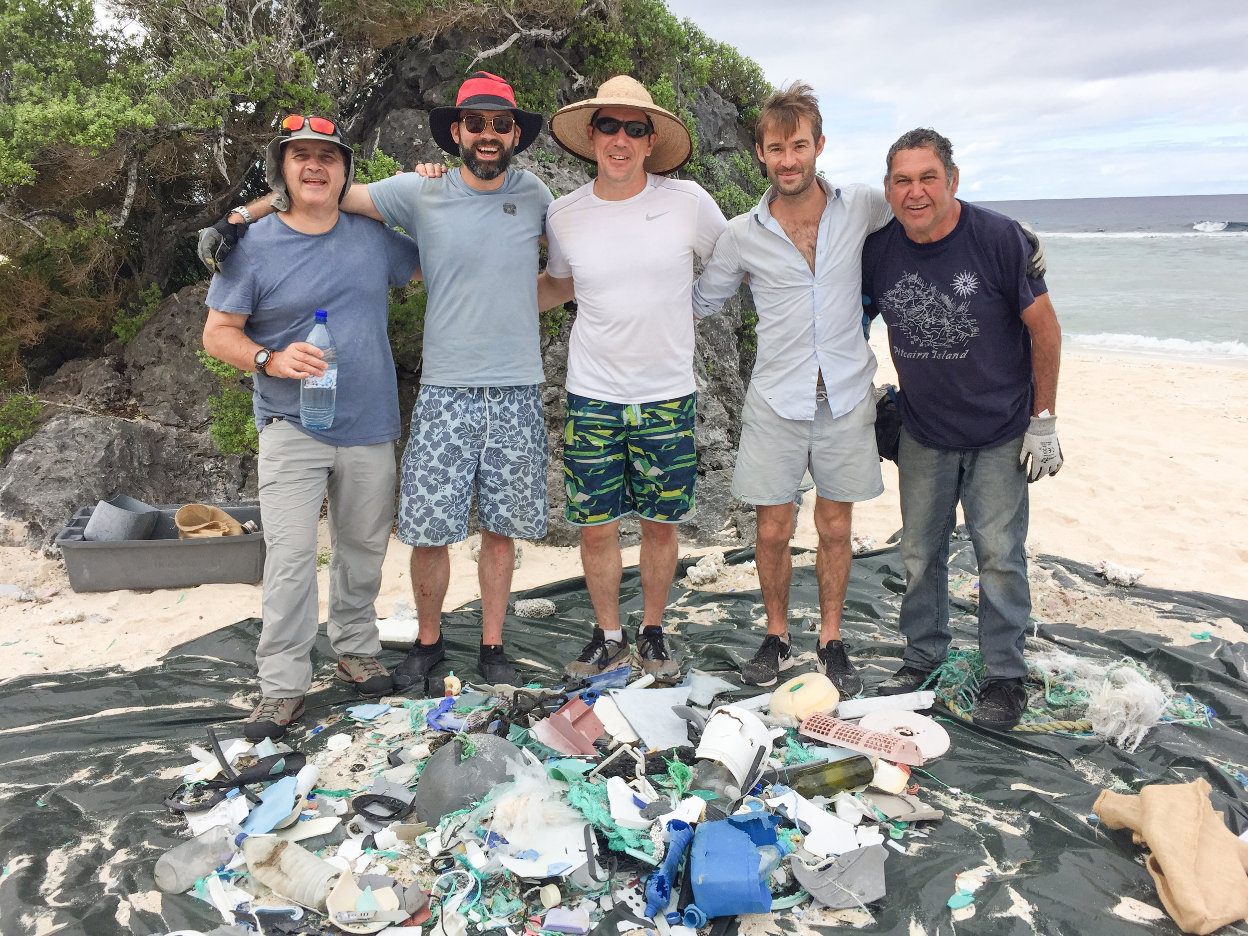 The team worked tirelessly for 351 in total, cleaning three beaches and collecting 14,000 lb of debris.