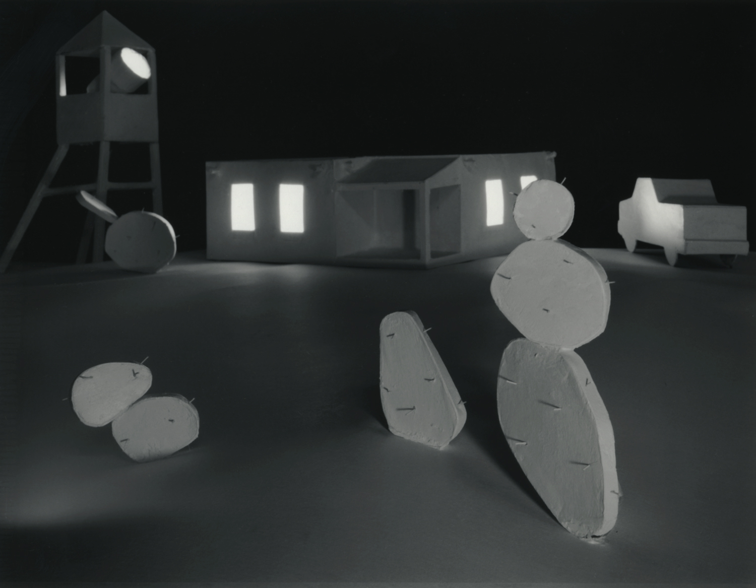 Desert House with Cactus , 1980