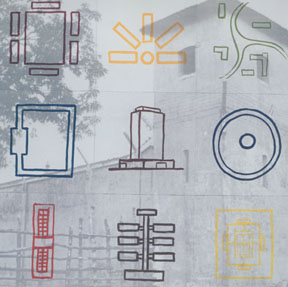 Prison Typologies in Nine Parts , 1993 Lithograph