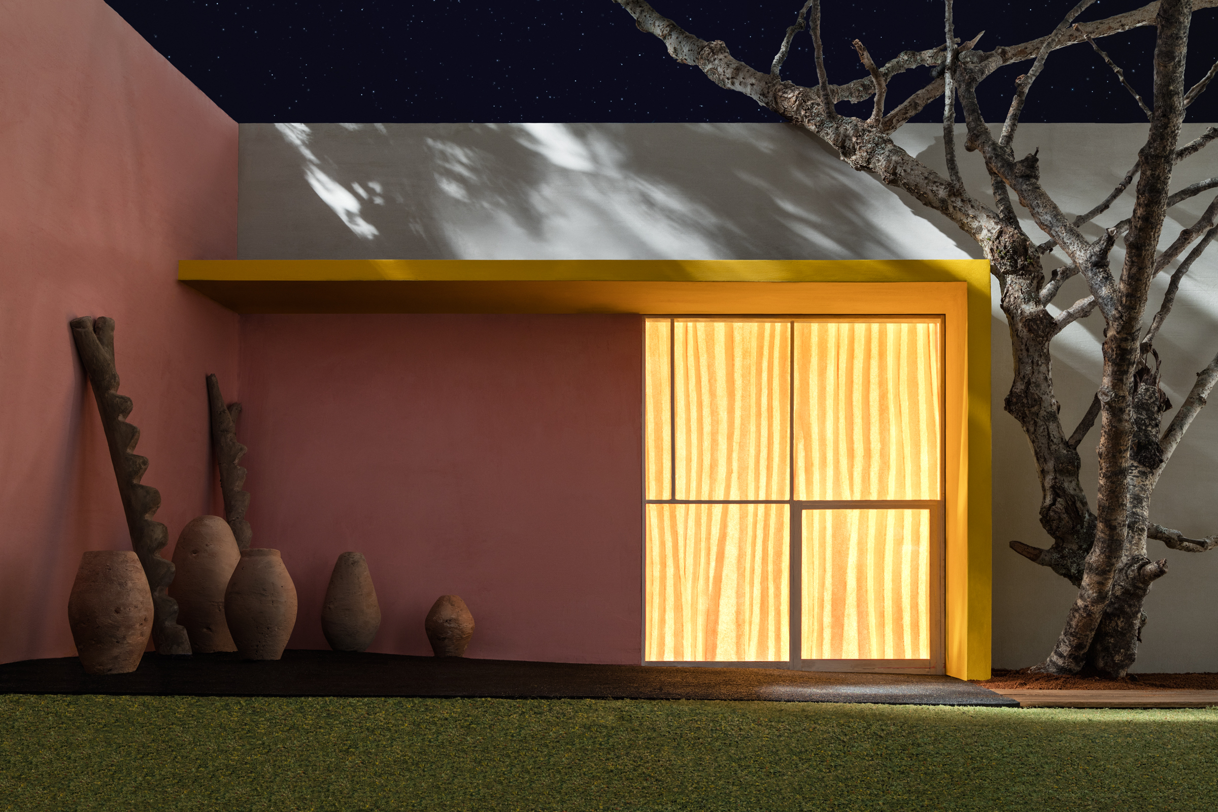 Yellow Overhang with Patio, 2017