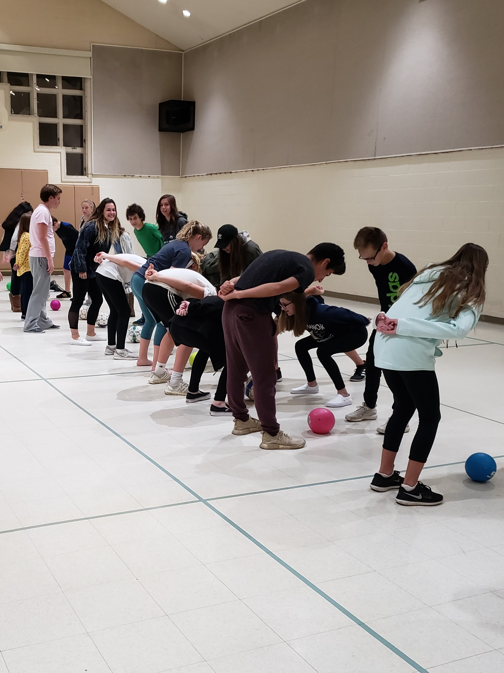 "STUDENTS AND LEADERS FILL OUR GRACE CAMPUS GYM FOR A GAME OF ""SNATCH!"" THAT TIED INTO OUR LESSON THAT EVENING."