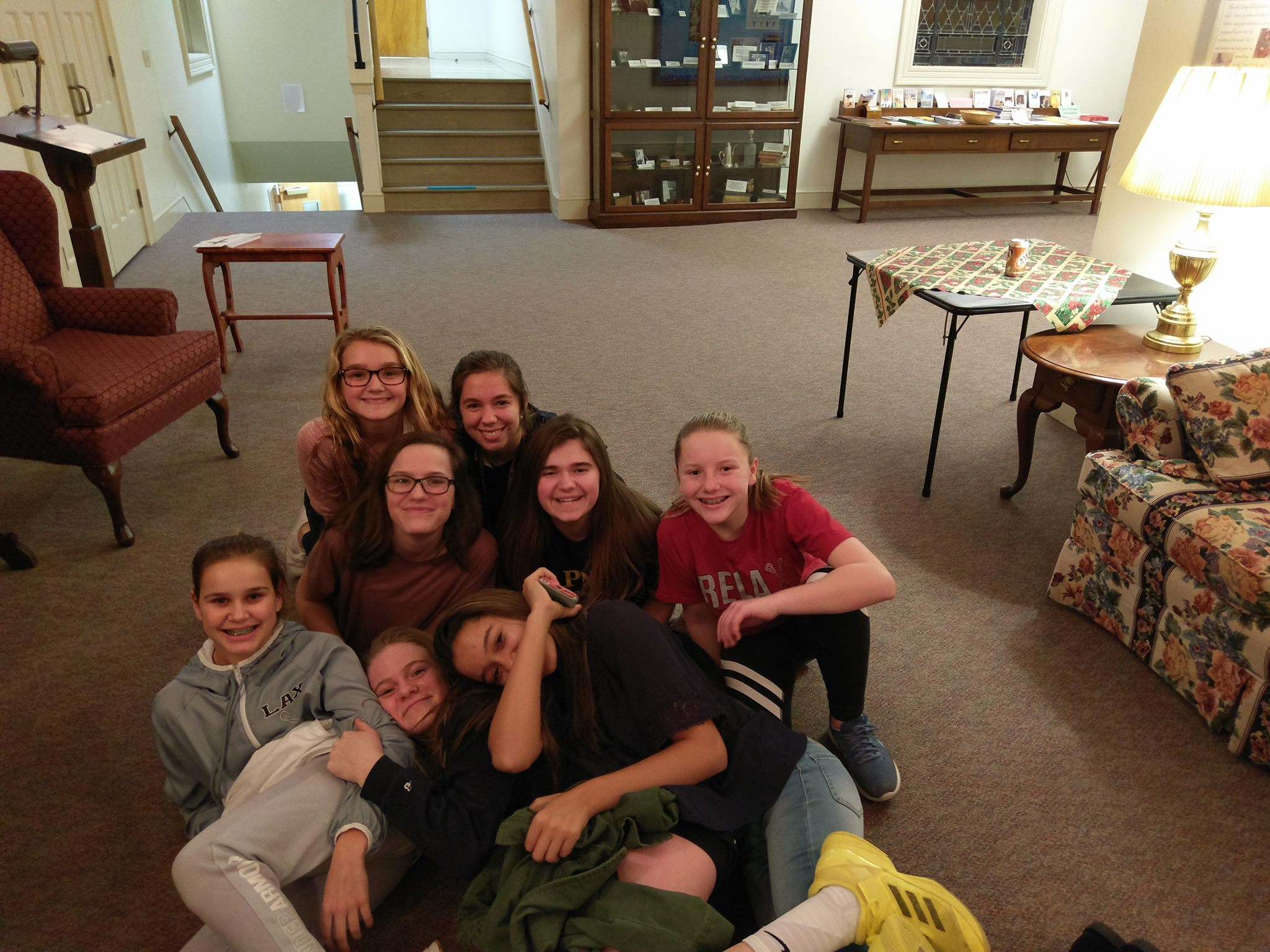 LISA (BACK MIDDLE) IS CURRENTLY A HIGH SCHOOL SENIOR AT PENN MANOR AND COMES EVERY WEEK TO LEAD A SMALL GROUP OF GIRLS!