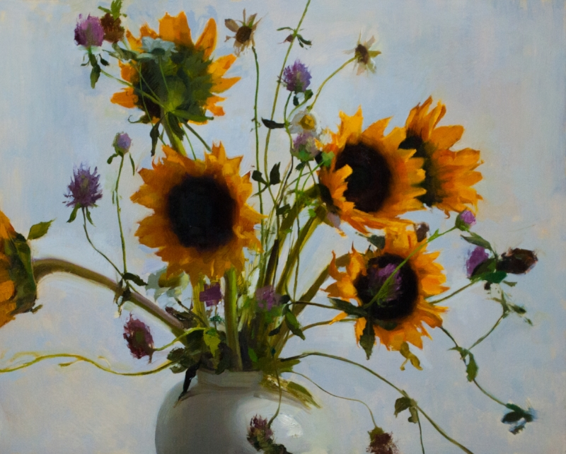 Sunflowers, Clover and Daisies