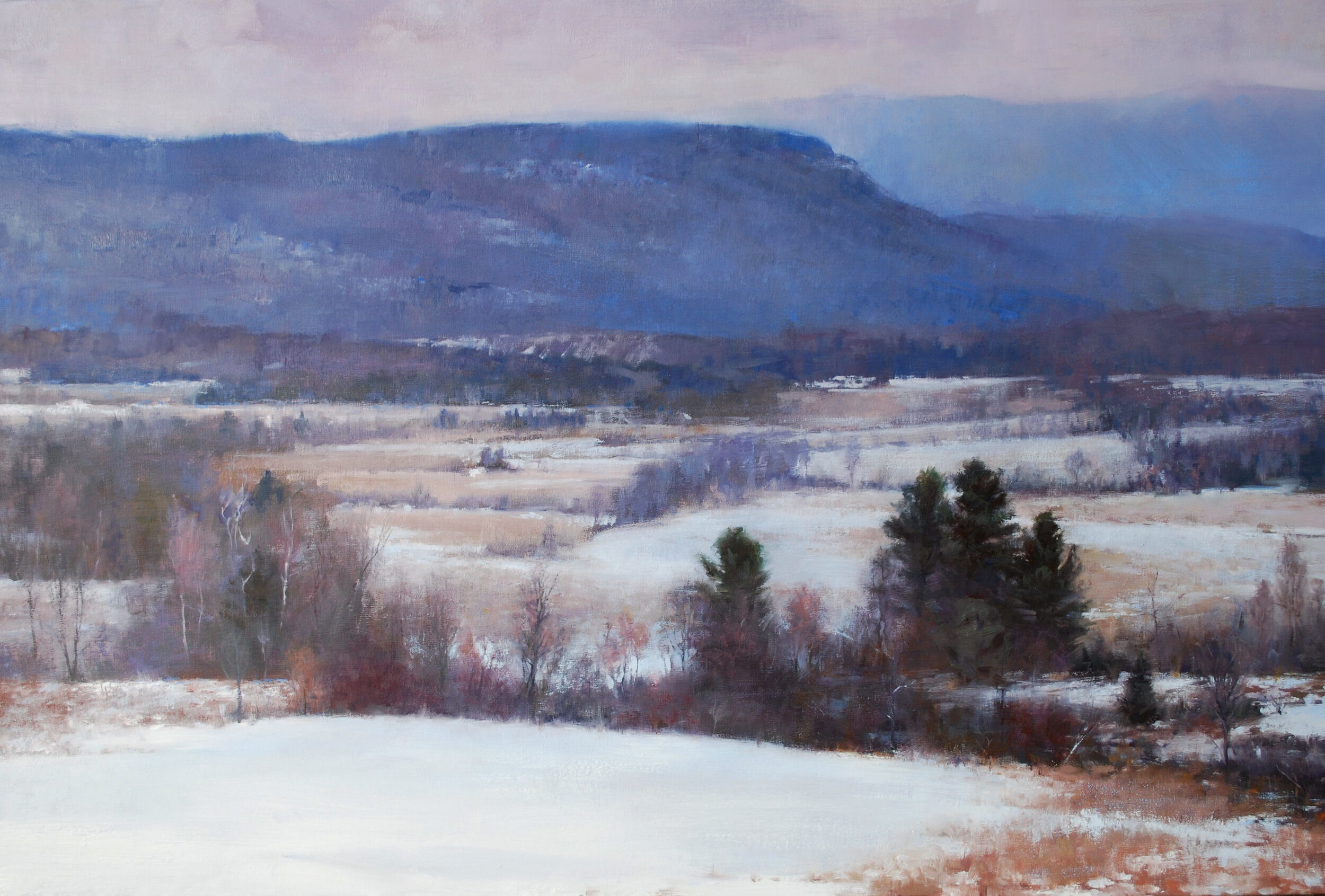 66 The Winter Blues, Oil on Linen, 24 x 36 inches, 2012.jpg
