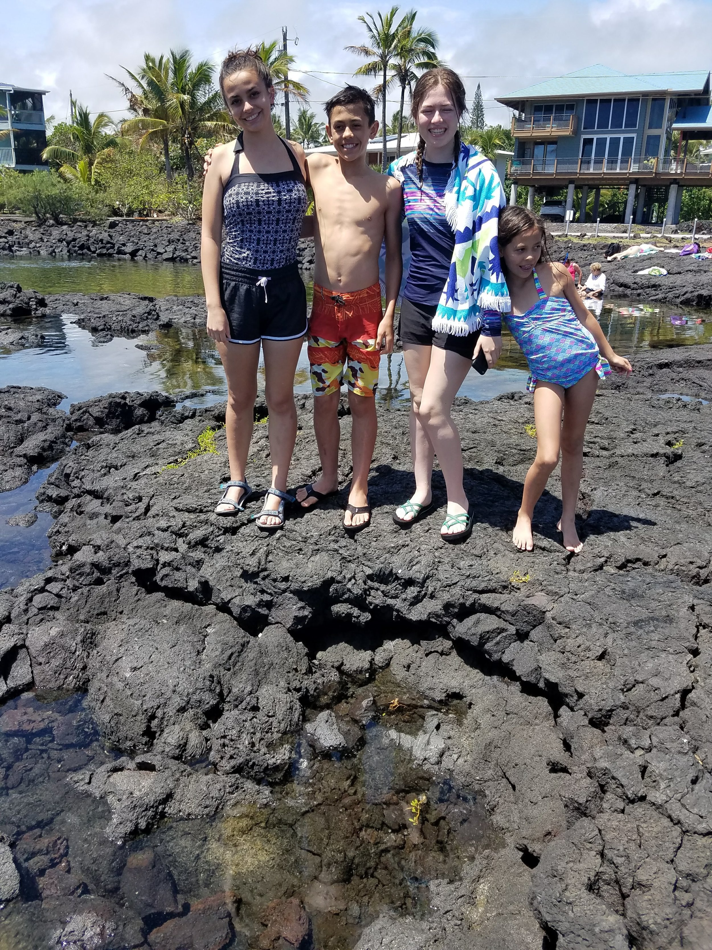 One day when Hannah was here, we went to the Kapoho Tide Pools.