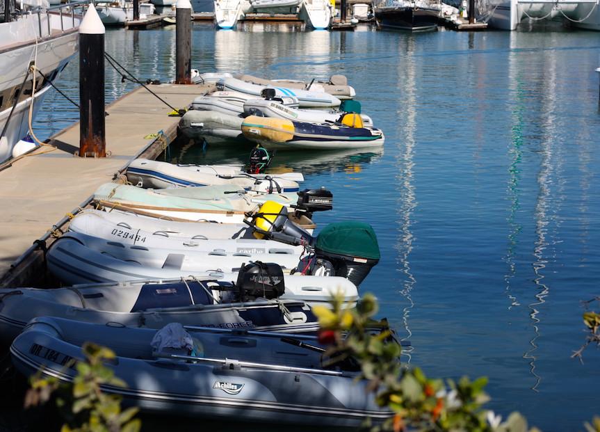 Dinghy Dock in Marina La Cruz, Nayarit.