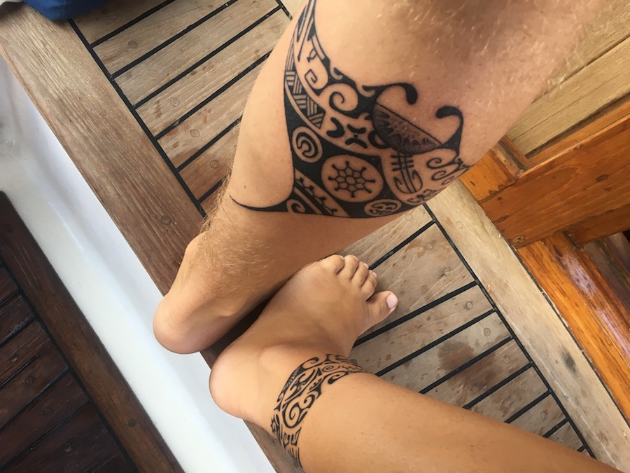 New ink in Hiva Oa, comemorating out first ocean crossing into the South Pacific.