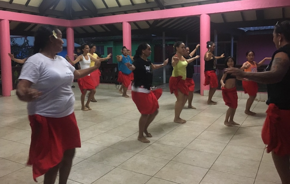 Nuku Hiva traditional women's dance class in Taiohae-- Definitely walked alway with a sore lower back and a huge appreciate for the hula.