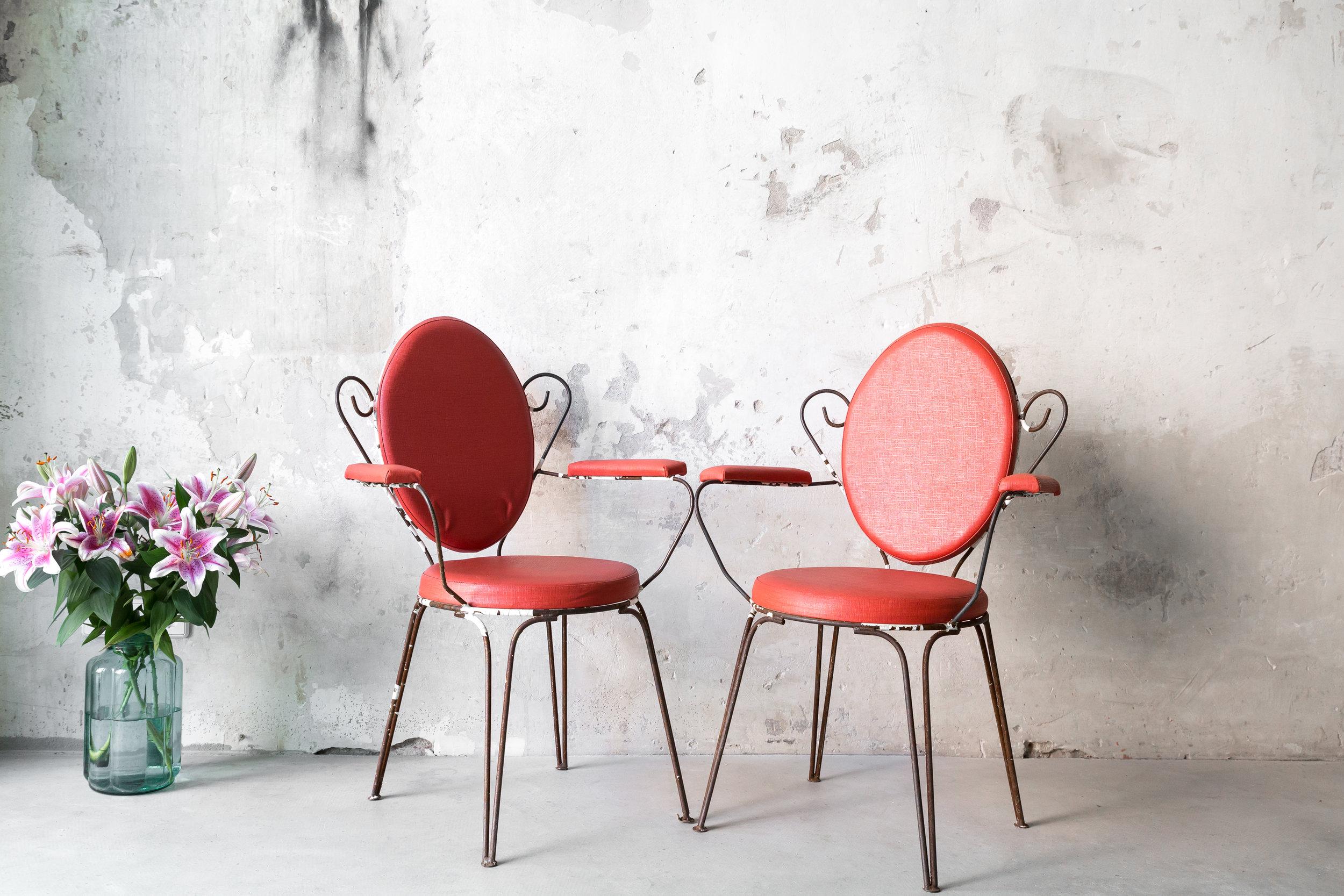 Red Beauty Stühle, 10 Stück