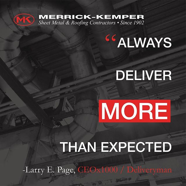 Enough said. 🔥 (Square to round duct fabricated and installed by @merrickkemper ) #ductwork #industrialdesign #industrial #fabrication #installation #sheetmetal #fab #metalwork #roofingcontractor #architectural #motto #inspirationalquotes #inspiration #legacy #legendary #larrypage #page #google #alphabet #boss #louisville #builder #contractor #merrickkemper