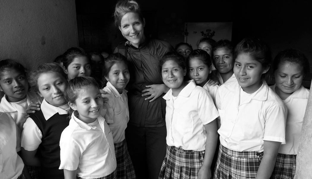 Our photographer Gigi and the girls from Marta Y Maria Convent School
