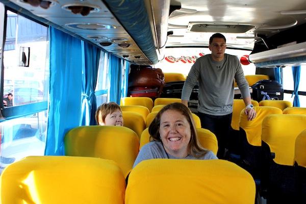 Lindsey, Amanda, and Matt get ready to head on over to Riobamba!