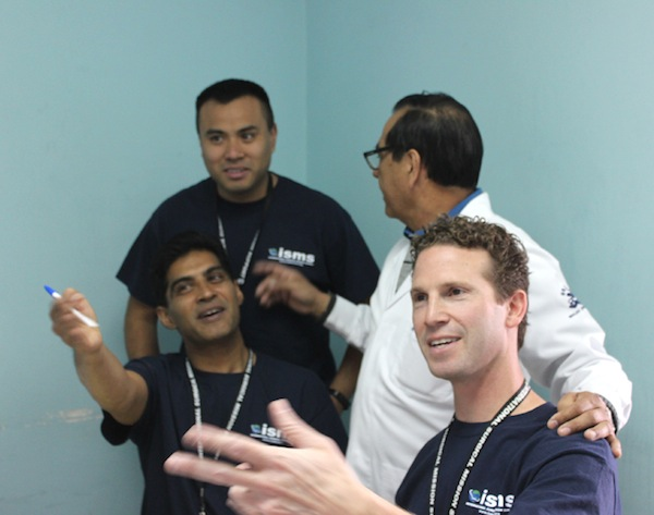 Urologists worked with the local doctor to triage patients for the coming week.