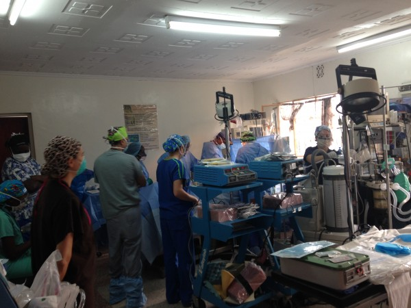 After triaging the patients and organizing the operation rooms, we started surgeries Monday running 3 beds. The team is working very well together.
