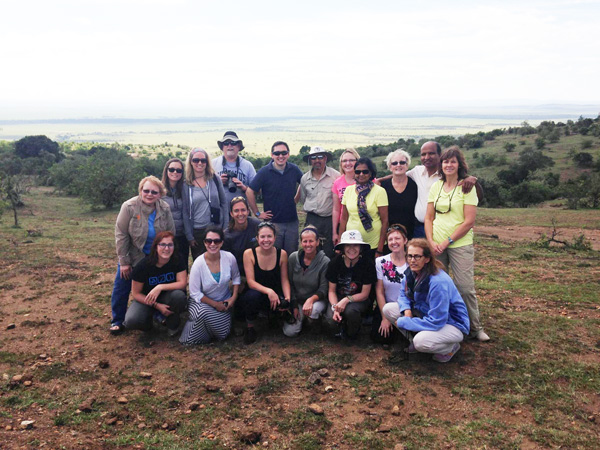 The team post mission relaxing in the masi Mara.