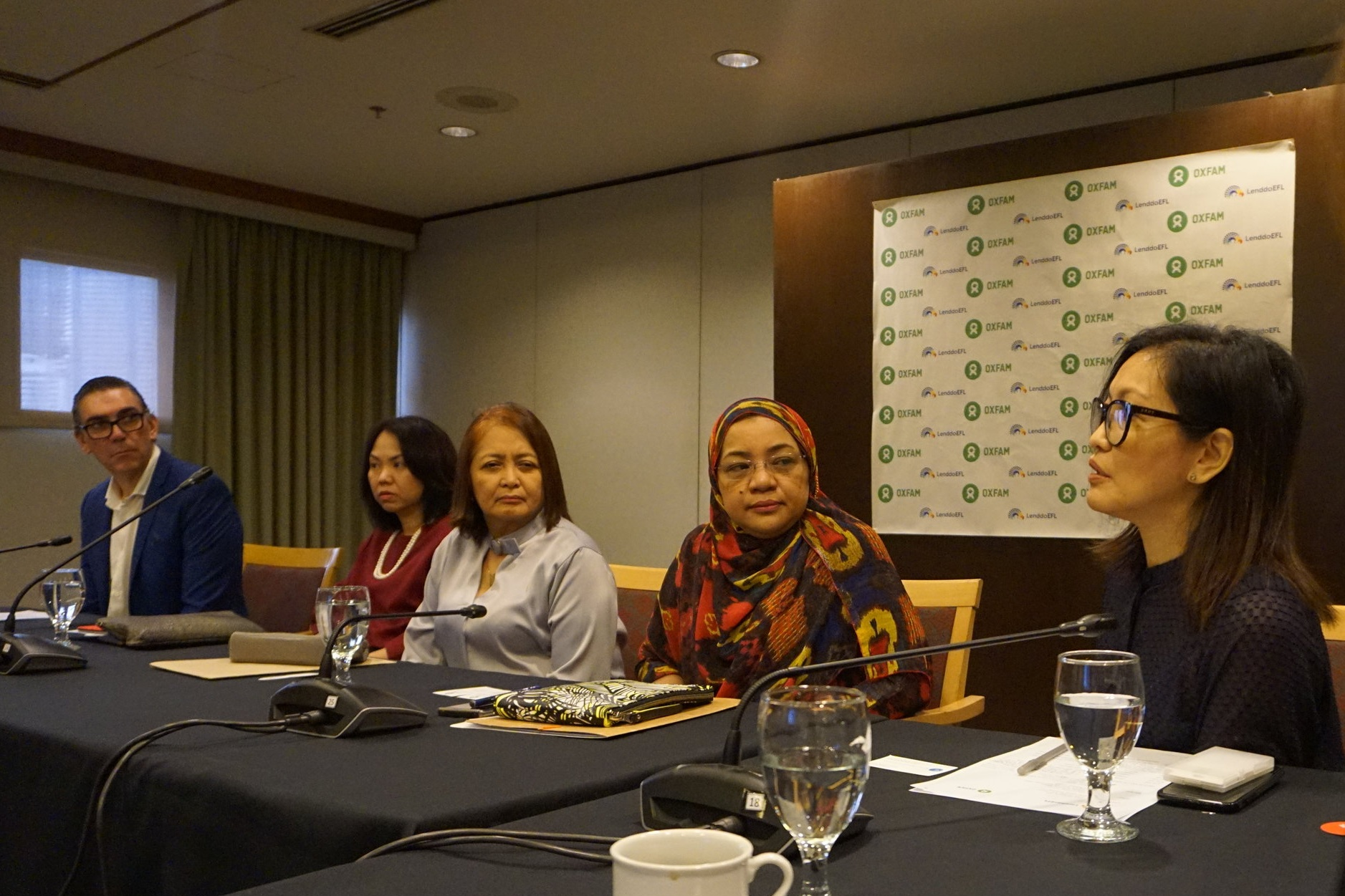 Oxfam Philippines Country Director, Maria Rosario Felizco sharing about their work in Cagayan region.