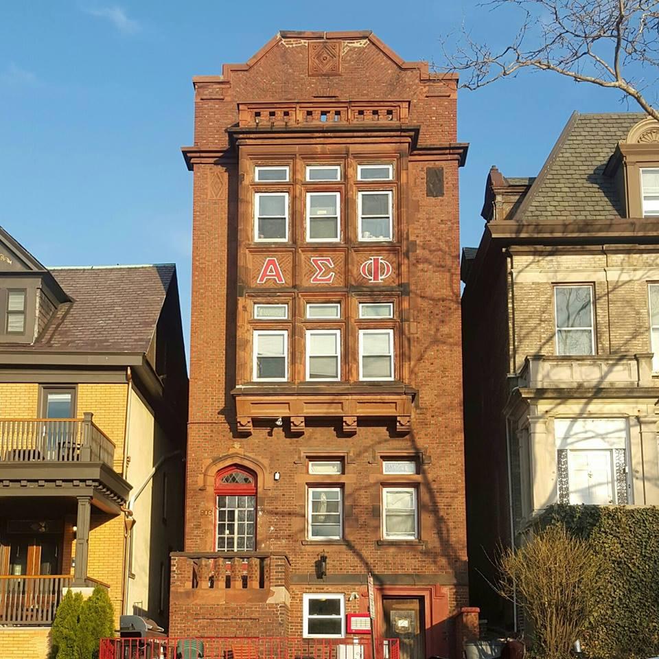 The Alpha Tau house. 903 Castle Point Terrace, Hoboken NJ