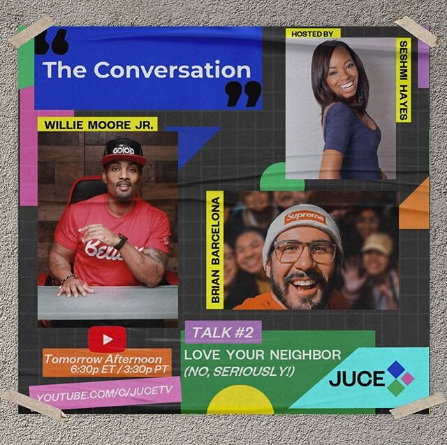 "?? Tomorrow ""The Conversations"" premiers it's second episode! Join us live @ 6:30 PM ETS 