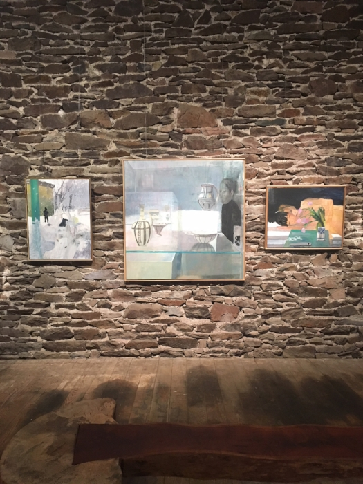 Installation view of Aubrey Levinthal's paintings at Art at Kings Oaks, 2018