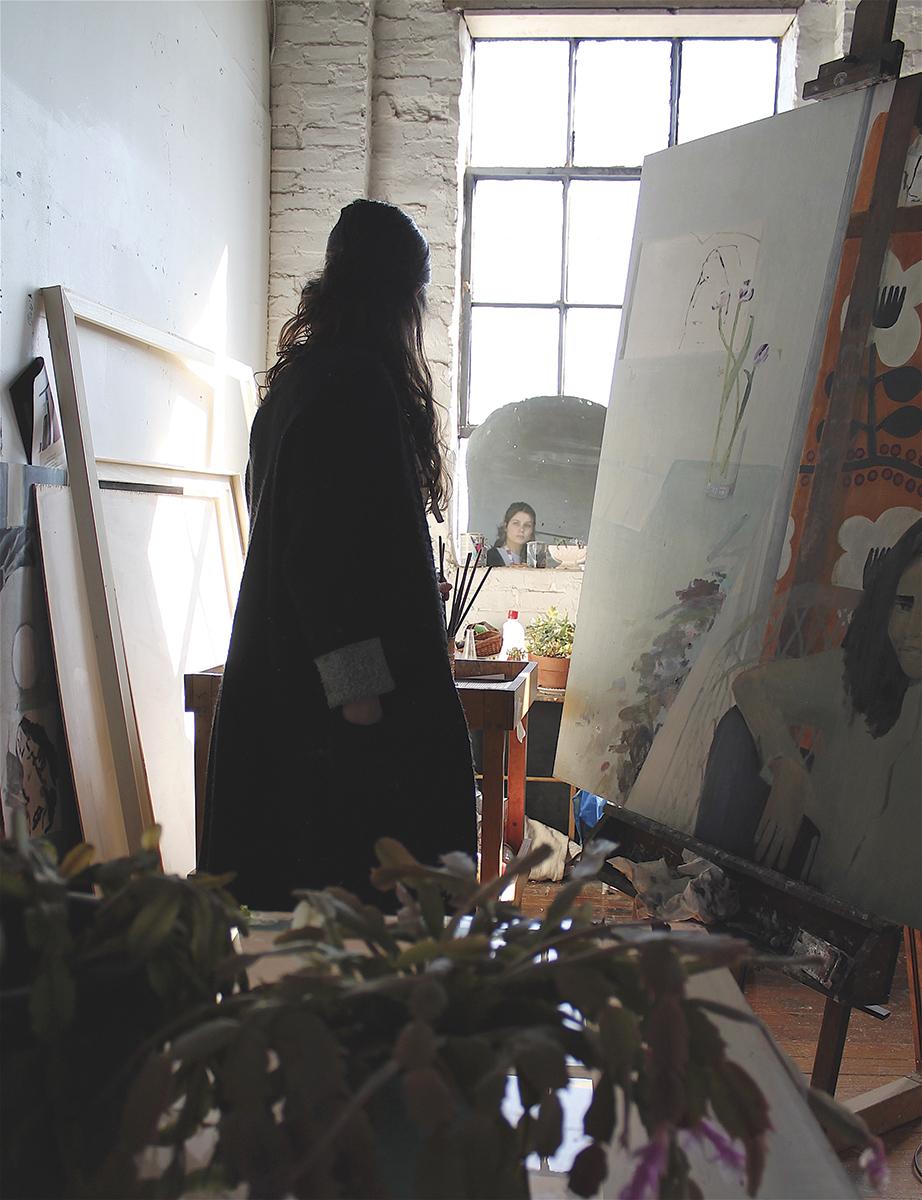 Aubrey Levinthal in her studio, 2018.