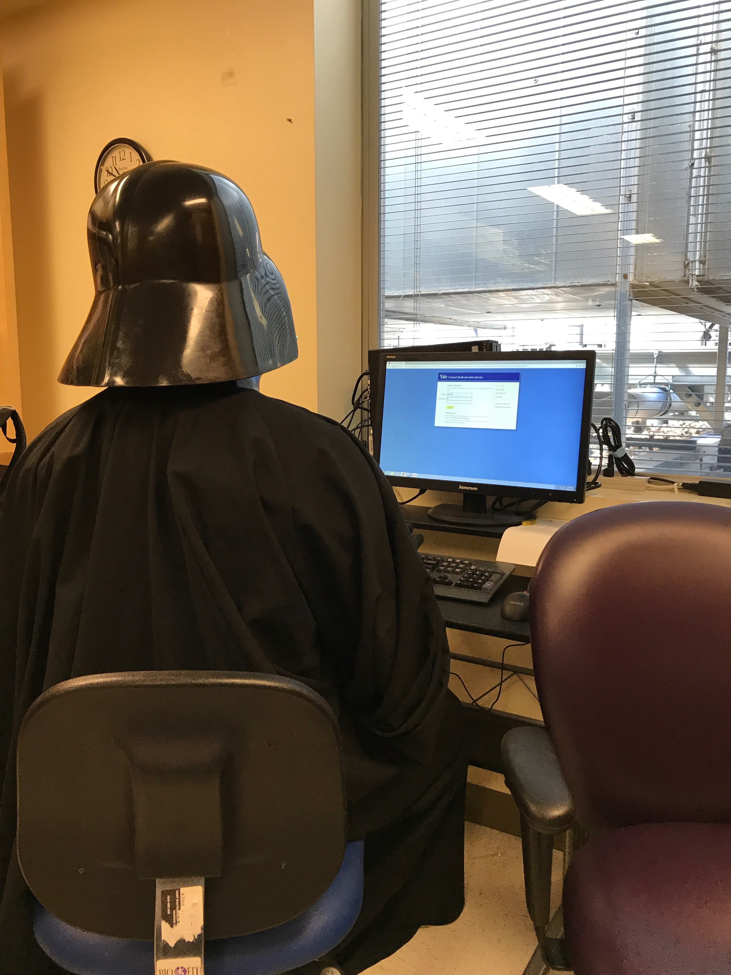 Dark Lord hard at work?