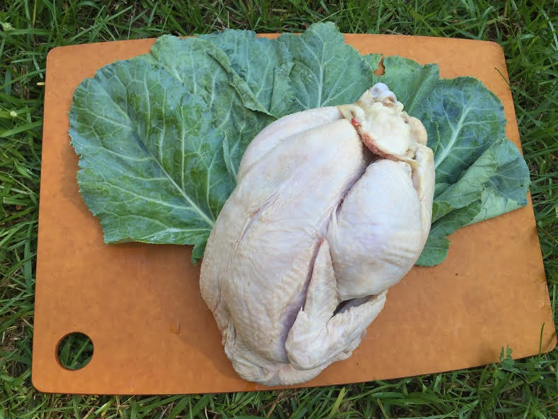 Whole Chicken - Our best seller. These free-range chickens are fed non-GMO grain and exceed organic standards.