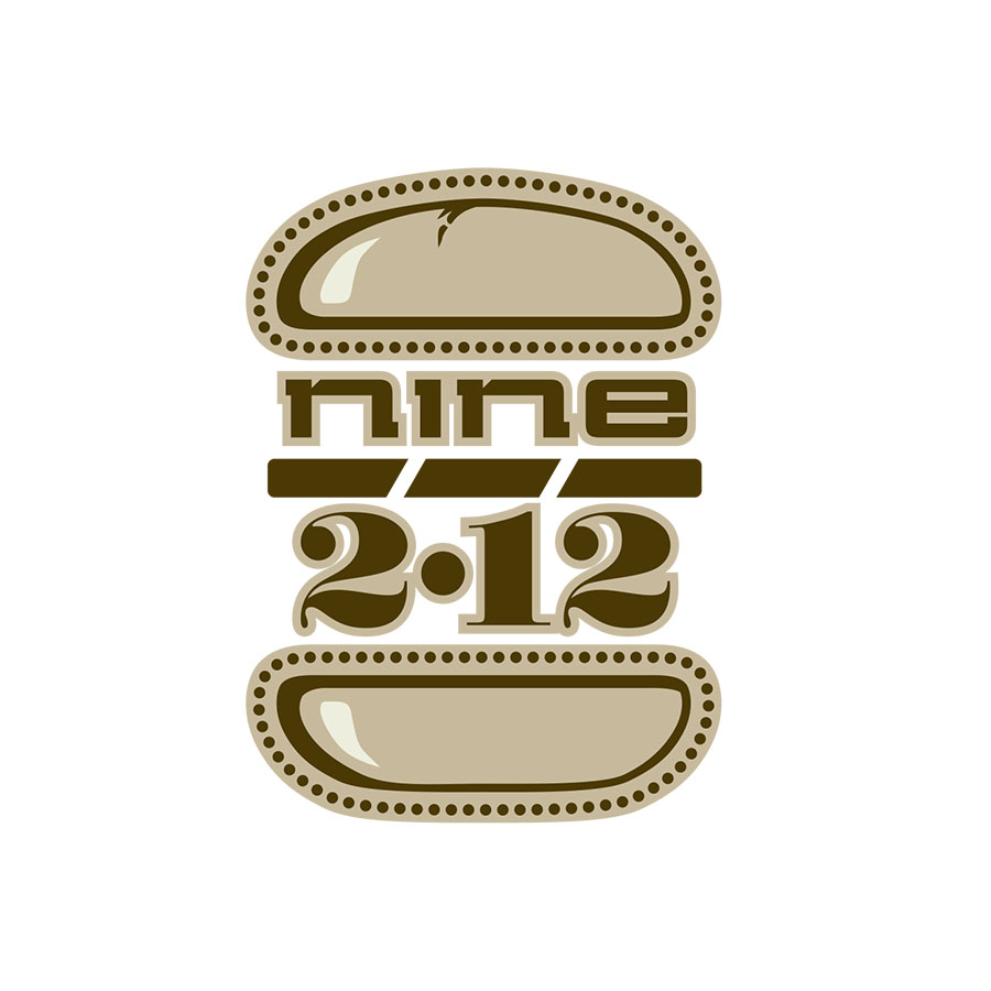 Logo for the Nine•2•12 burger, from the VIno vino late nite menu