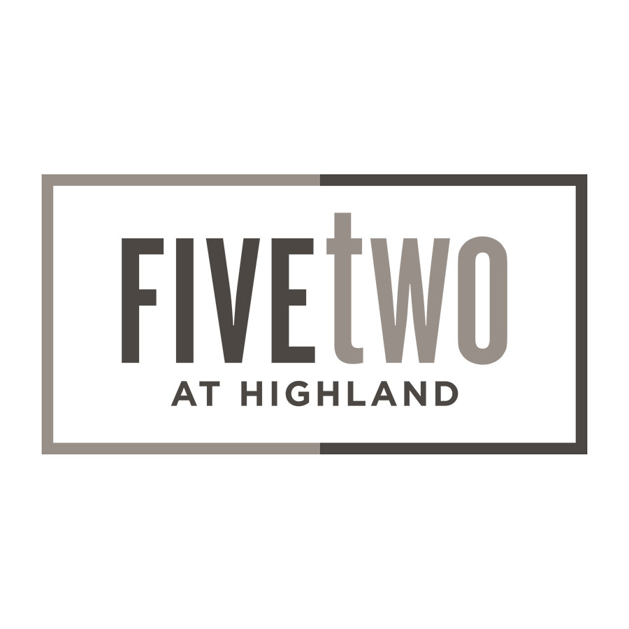 Identity for five two, a mixed use residential development in Austin Texas' rebounding 78752 zip code