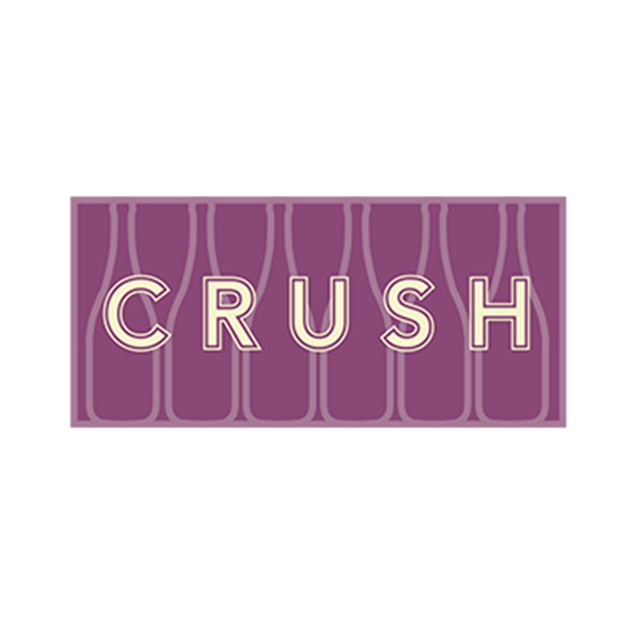 Identity for Crush, a wine bar concept