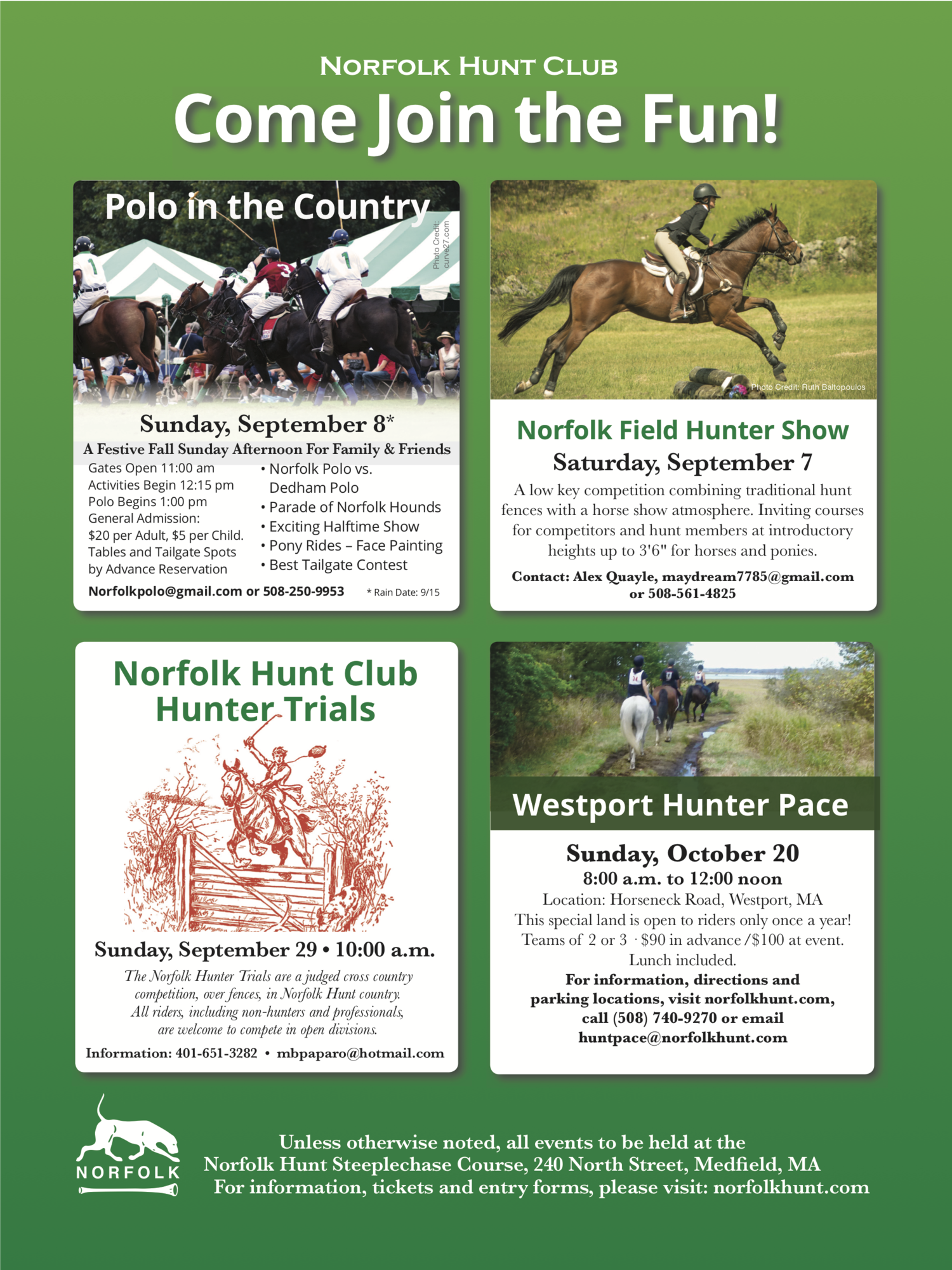 Events — The Norfolk Hunt Club