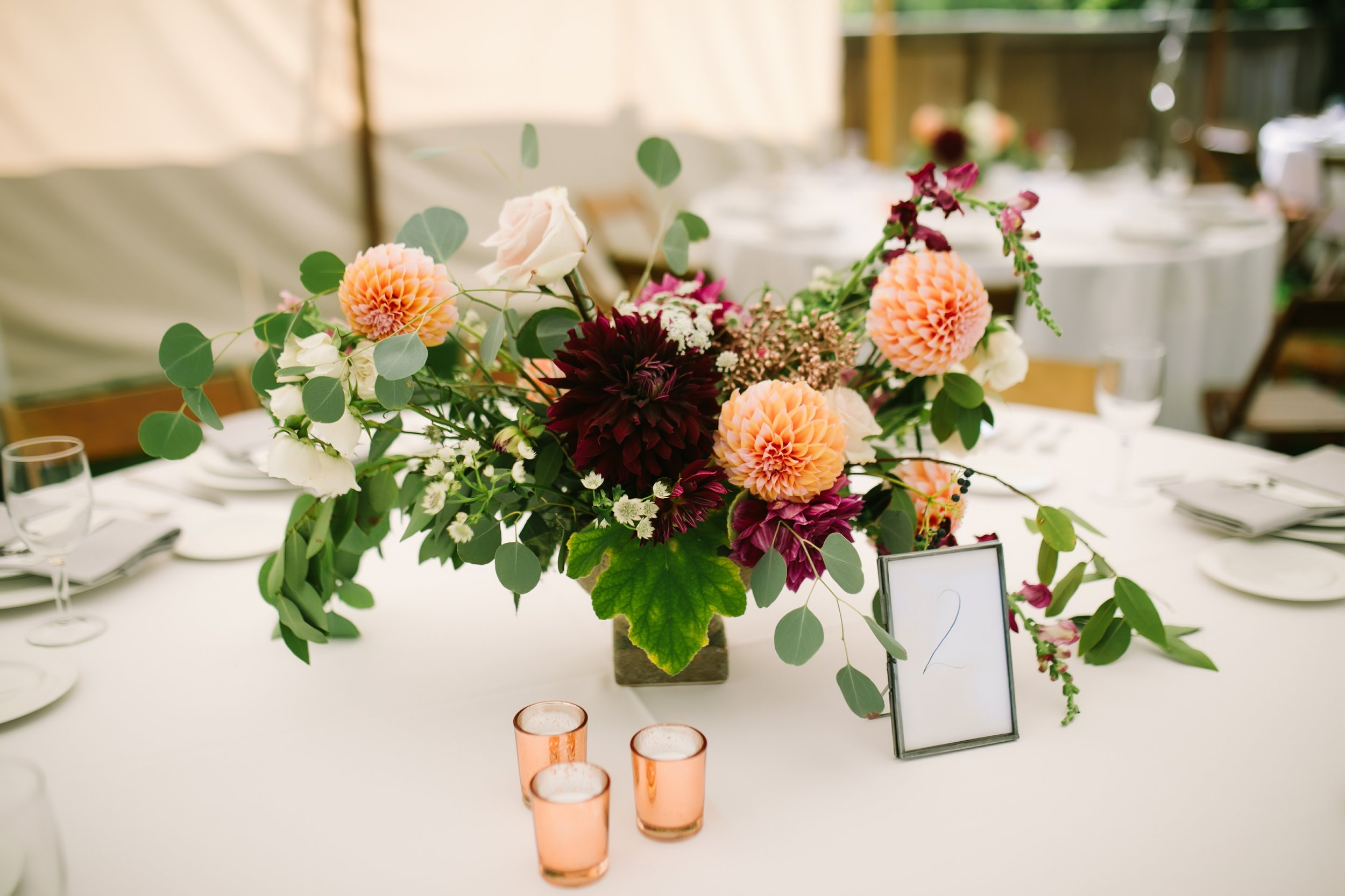 misty farm wedding centerpieces red poppy floral design