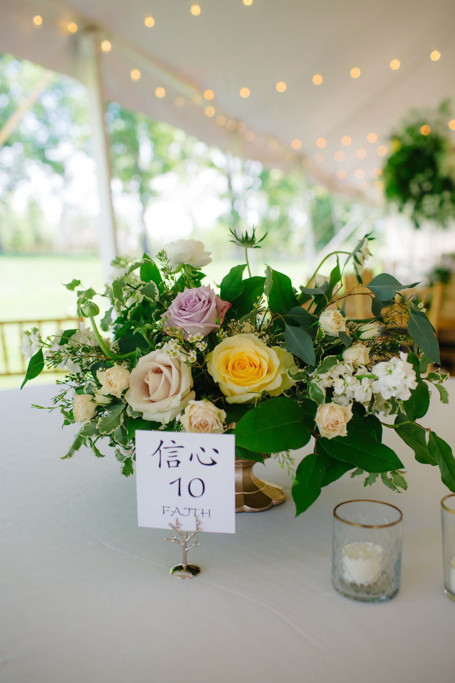 cornman farms wedding centrpieces