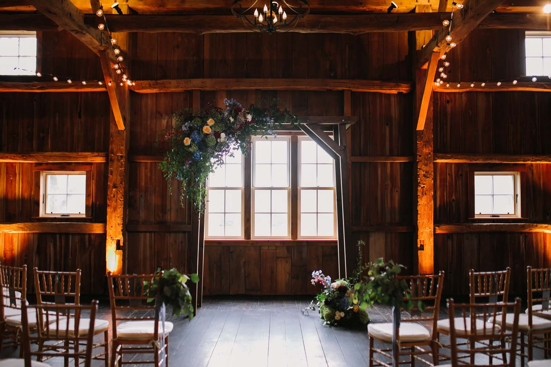 cornman farms wedding ceremony arch