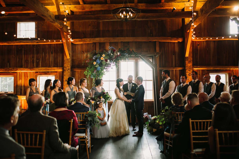 cornman farms wedding ceremony barn