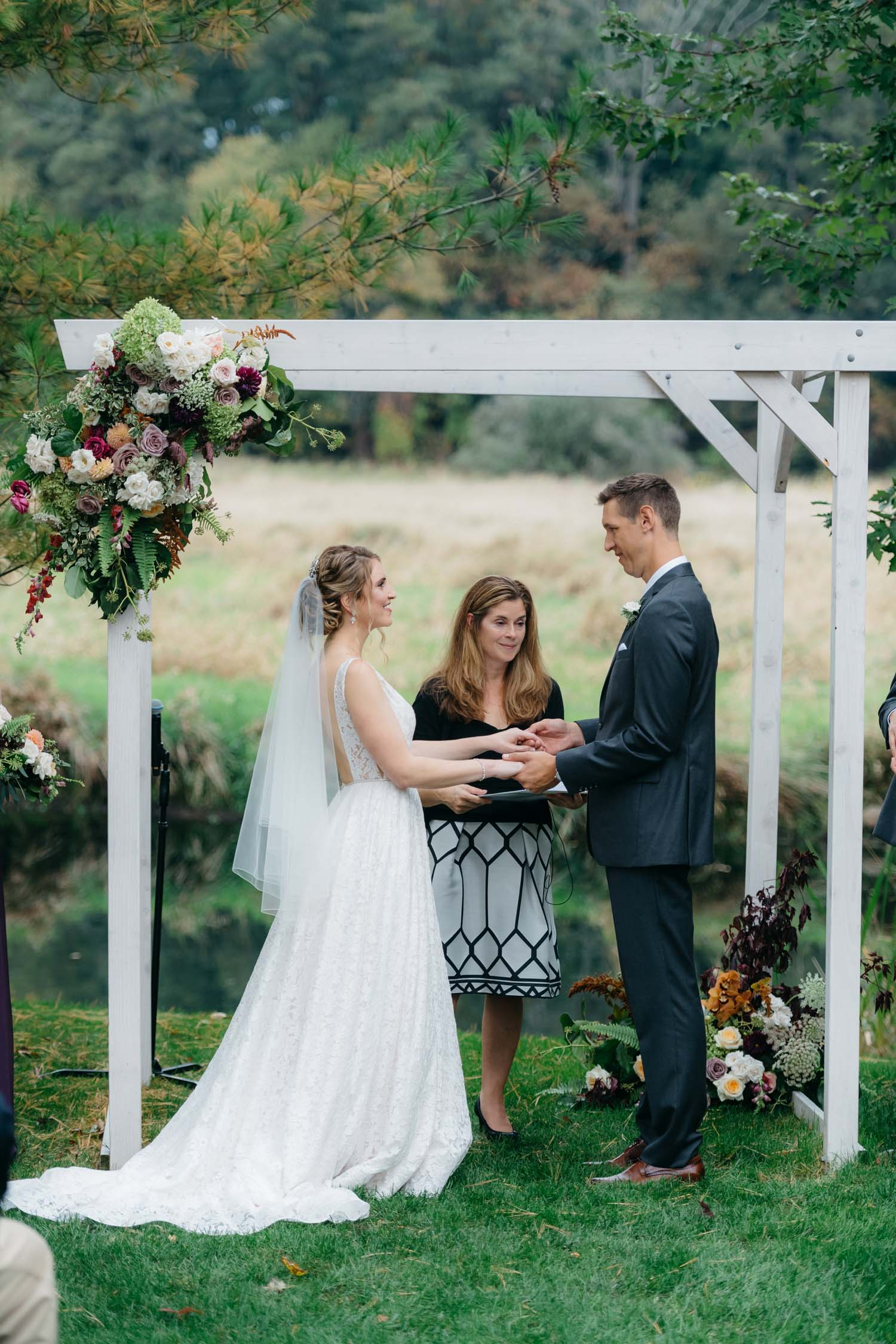 misty farm outdoor ceremony