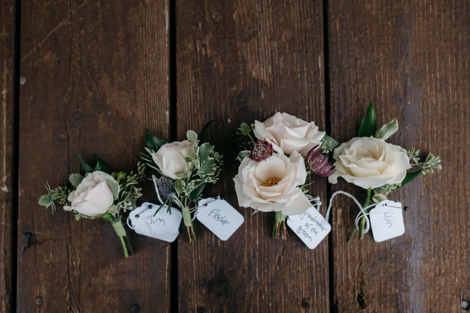 misty farm boutonniers